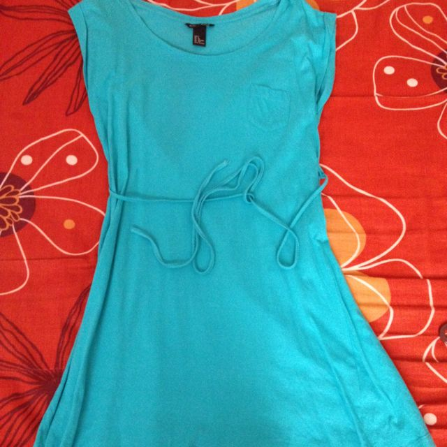 FOS Basic Aqua Blue Dress