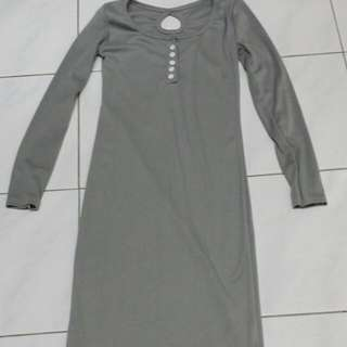 Grey Midi Dress (Free Postage)