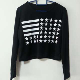 Stars & Stripes Korean Cropped Top
