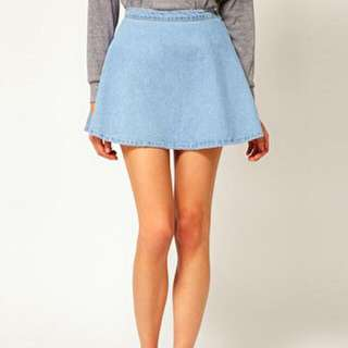 BN American Apparel Inspired Denim Skater Skirt