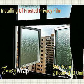 Privacy Frosted Film Installation Services