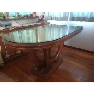 Built To Order Teak Wood Dinning Table And Chairs