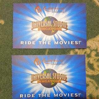 USS Universal Studio Physical Tickets