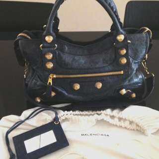 *Reduced* Balenciaga City Blue Roi G21 Gold Hardware