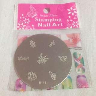 (B-113) Nail Art Stamp Plate