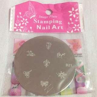 (B-21) Nail Art Stamp Plate