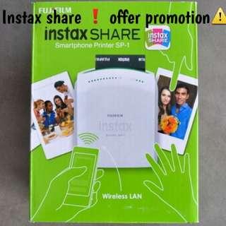 Instax Share Sp-1 Photo Printer OFFER promo❗