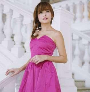Agneselle Fuschia Lolita Tube Dress 💖