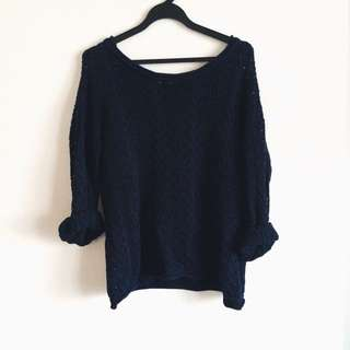 Navy Knitted Sweater