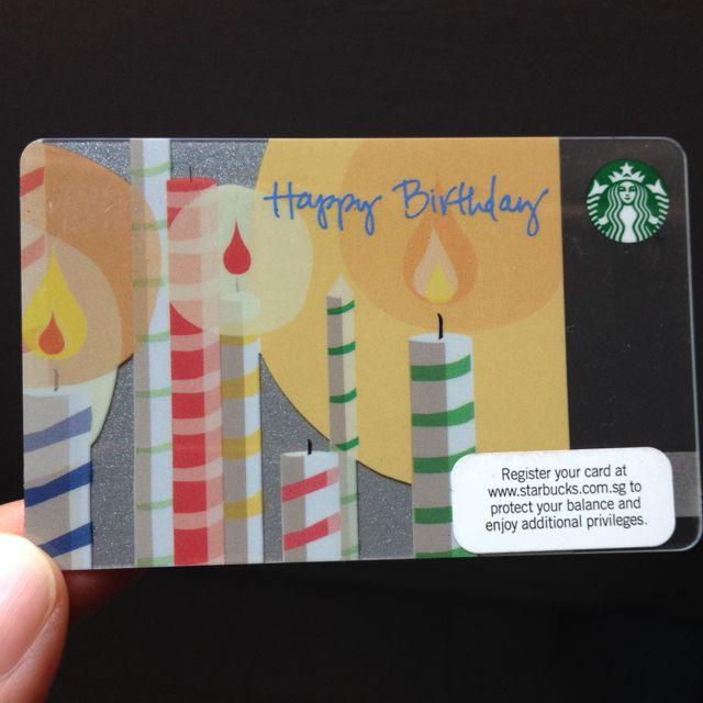 Starbucks Birthday Gift Card