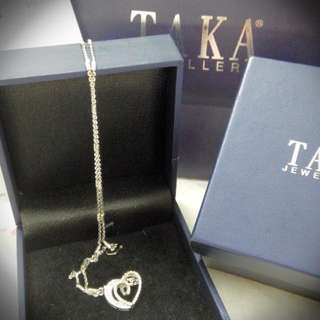 Taka Love-Shaped Diamond Pendant!