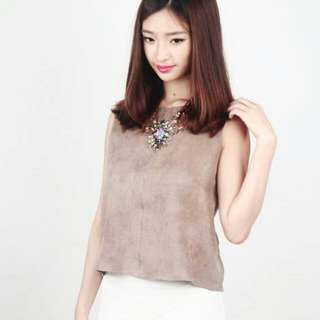 SHOPSKINNED Tamillia Suede Top