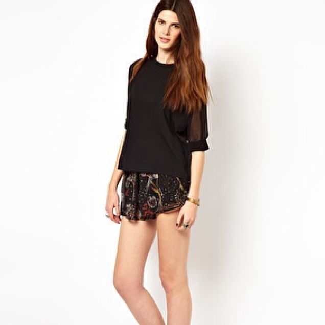 18 And East Chiffon Shorts (Price Reduced)