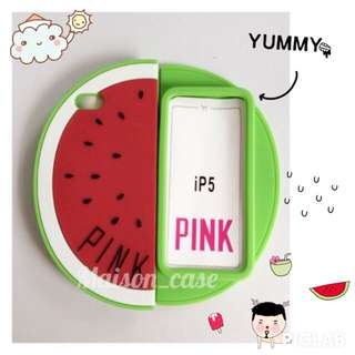 PINK watermelon Iphone Case 5/s