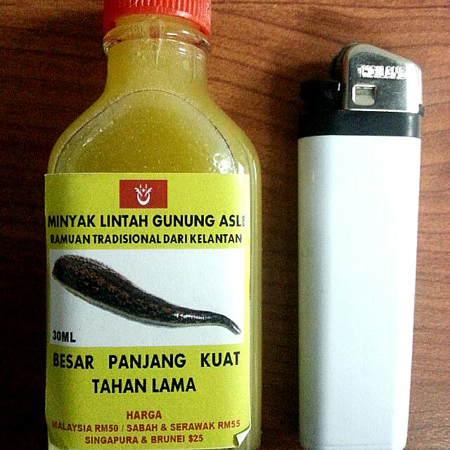 minyak lintah leech oil 30ml men s fashion on carousell