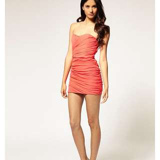 Rare Cut Out Mesh Tube Dress