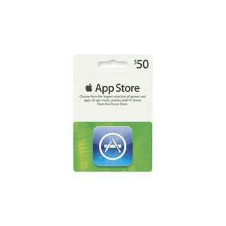 App Store $50 Card