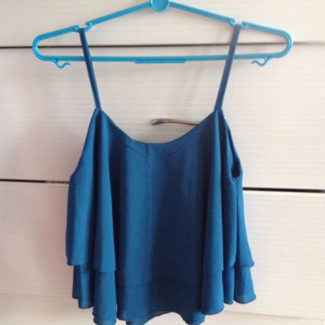 Cropped Teal Top