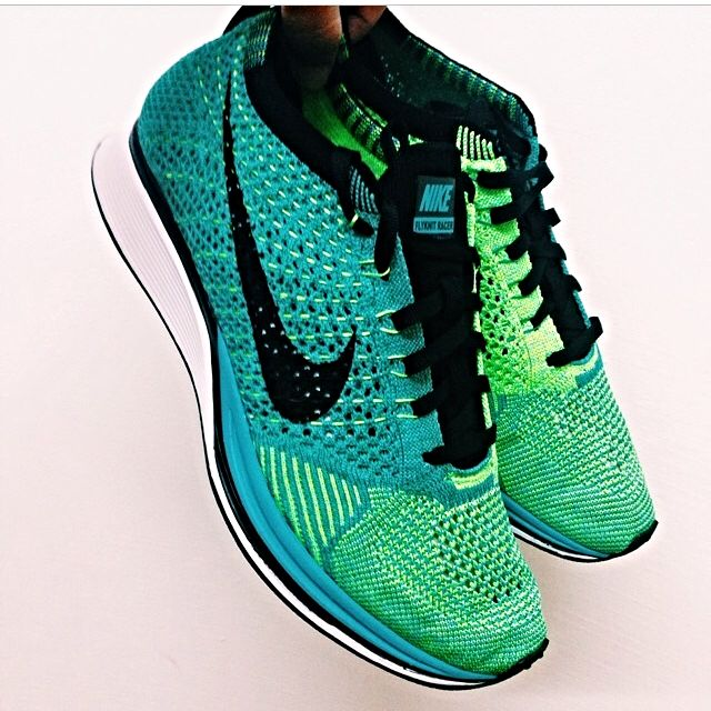 new styles bea44 8509c Nike Flyknit Racer Lucid Green, Sports on Carousell