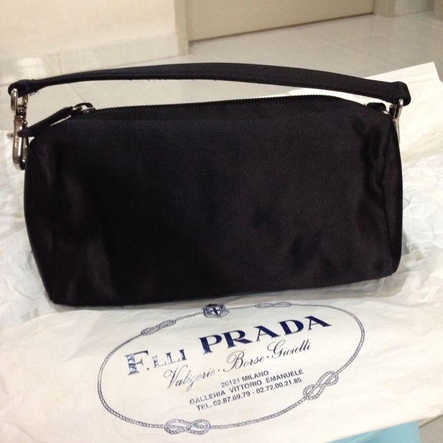 42c8fd8d80a7 PRADA Black Nylon Shoulder Bag/ Pouch, Luxury on Carousell