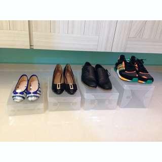 Translucent stackable shoes boxes