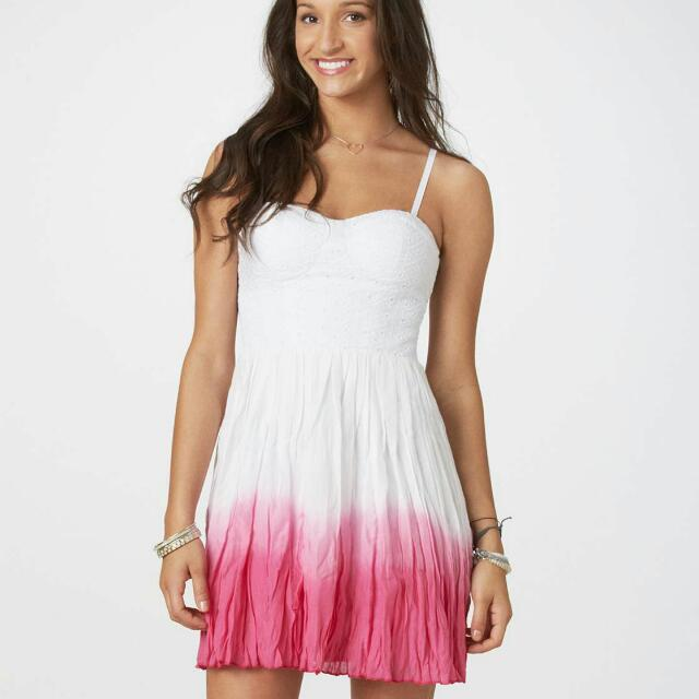 American Eagle Pink dip-dyed Dress