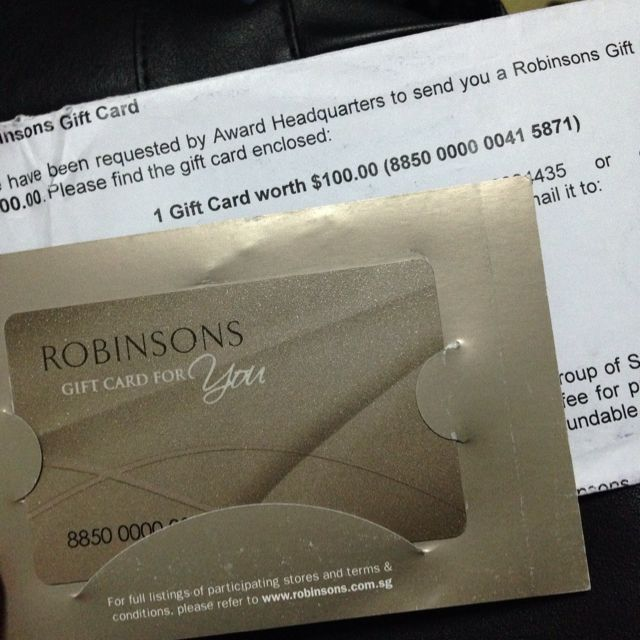 Robinsons Gift Card