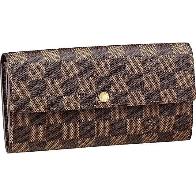 3ea3e21d9901 Louis Vuitton Damier Ebene Canvas Wallet (button)