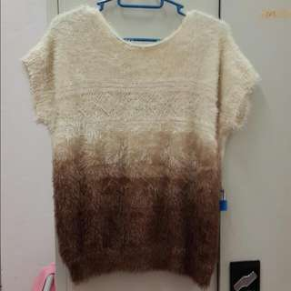 (New!) Furry Ombre Top