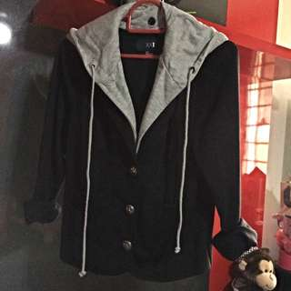 BN Forever 21 Cotton Blazer With Detachable Hood