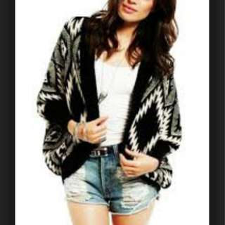 (Free Postage) Tribal Print Knitted Cardi