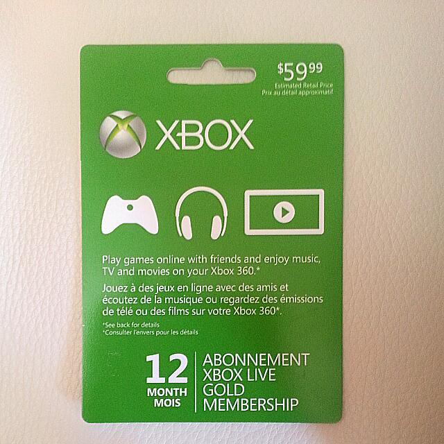 Xbox Live 12 Months Gold - New