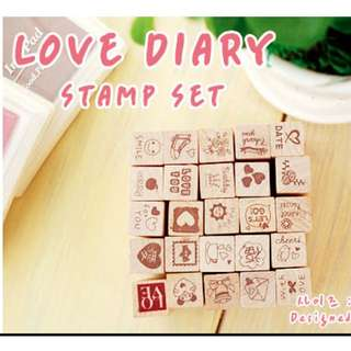 Love Life Diary Stamp Set