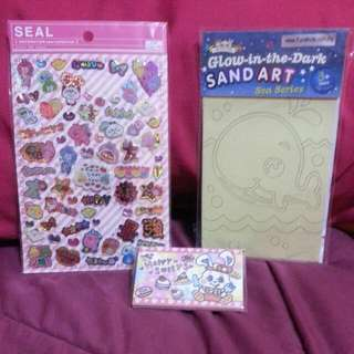 Stickers And Sand ART