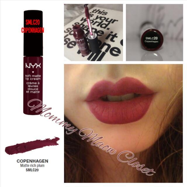 663094adb3 ♥ Genuine NYX SMLC 20 Copenhagen [Matte Rich Plum] ♥, Health & Beauty on  Carousell