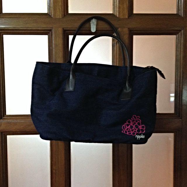 Ripples Denim Tote Bag