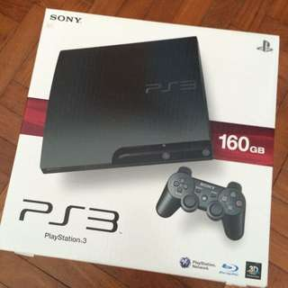 PS3 160gb + 5 Games