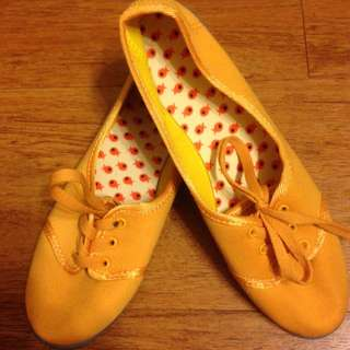 mustard comfy shoes