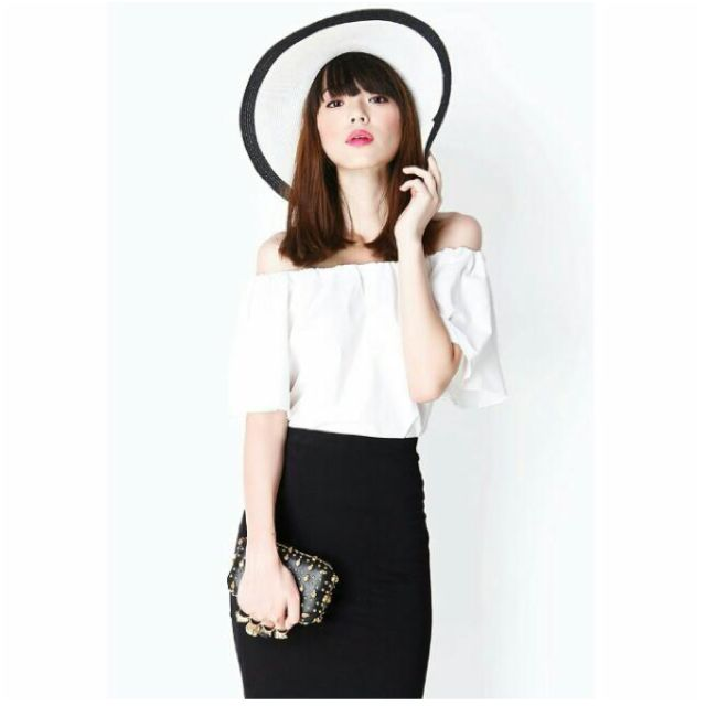 A For Arcade (AFA) Ruffle It Up Off Shoulder Top In White