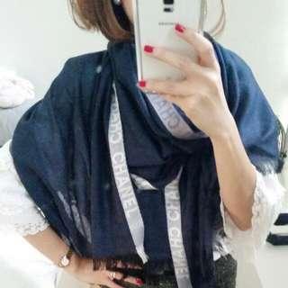 BN Chanel 2 Tone Shawl (Cashmere & Silk)