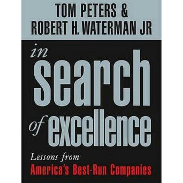 In search of excellence by tom peters robert waterman books photo photo photo publicscrutiny Gallery