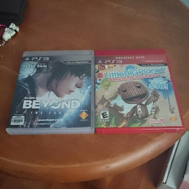 PS3 Beyond 2 Souls And Little Big Planet 1