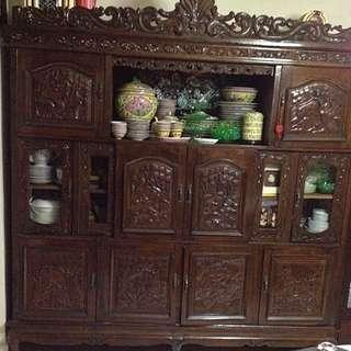 Rare Peranakan Carved Cabinet