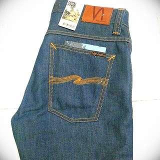 Wts Nudie Jeans Grim Tim Organic Dry Greencast 32/32 13.5oz