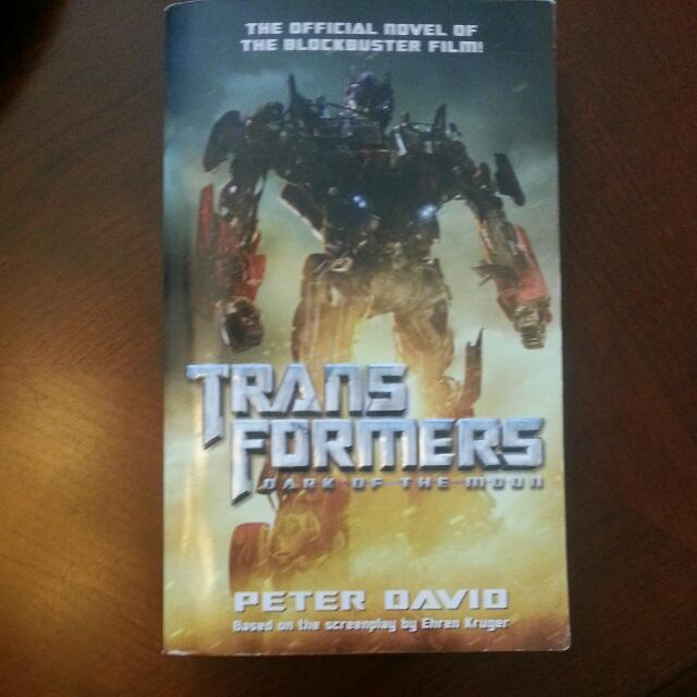 Transformers: Dark Of The Moon Novel