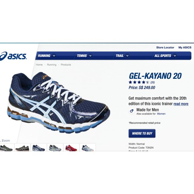 Reserved) Asics Gel Kayano 20 Size 10.5 (Reduced Price Twice Alr ... 5f60266f1f76