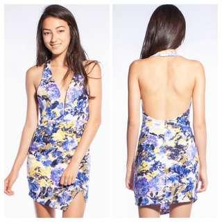 Abstract Halter Dress