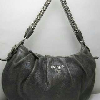 Offer!  $380 Authentic Prada Cervo Lux Hobo Stunning! DUAL COLOUR!