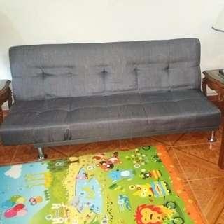 Rarely Used Grey Fabric Sofa Bed