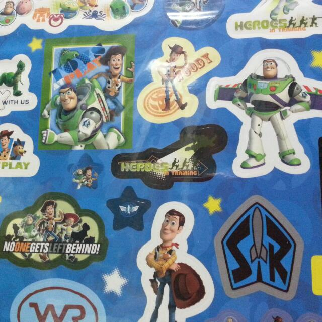 Brand New Buzz Lightyear N Woody Sticker, Toys & Games on